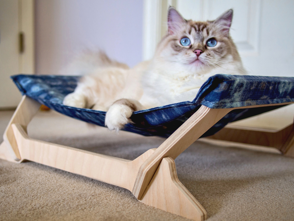 the coziest cat hammocks around kitty lounger mini  u2014 peach pet provisions  rh   peachpetprovisions