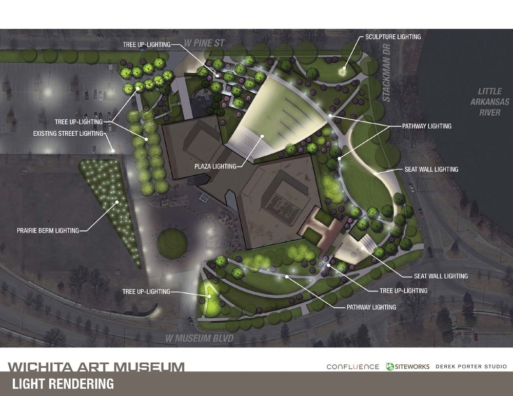 wichita art museum sculpture garden  u2014 derek porter studio