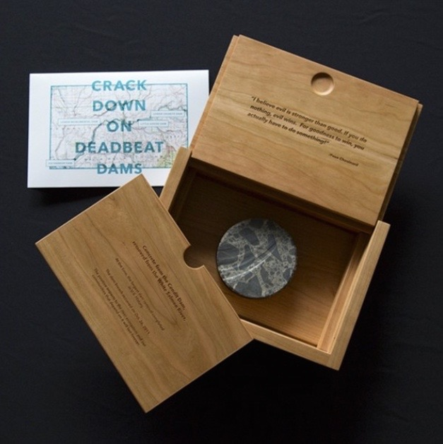 Killscrow: Handmade Box for DamNation Petition Delivery