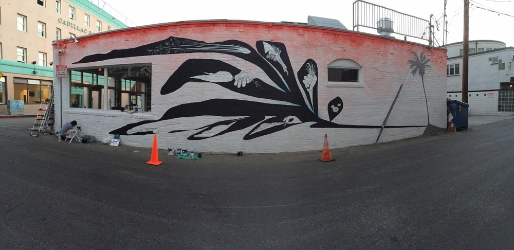 Lana Fee Rasmussen, Killscrow mural at Dudley Market,- Venice, CA