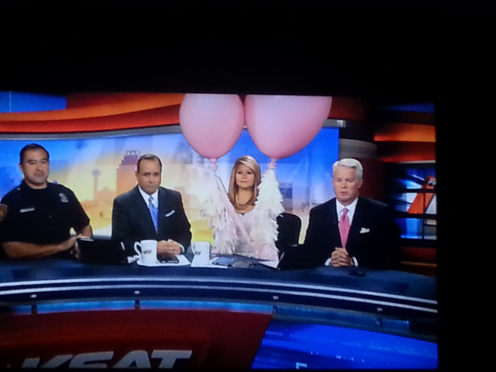 KSAT Channel 12 featured Build A Balloon's Breast Cancer Awareness Balloons on the Morning Show!