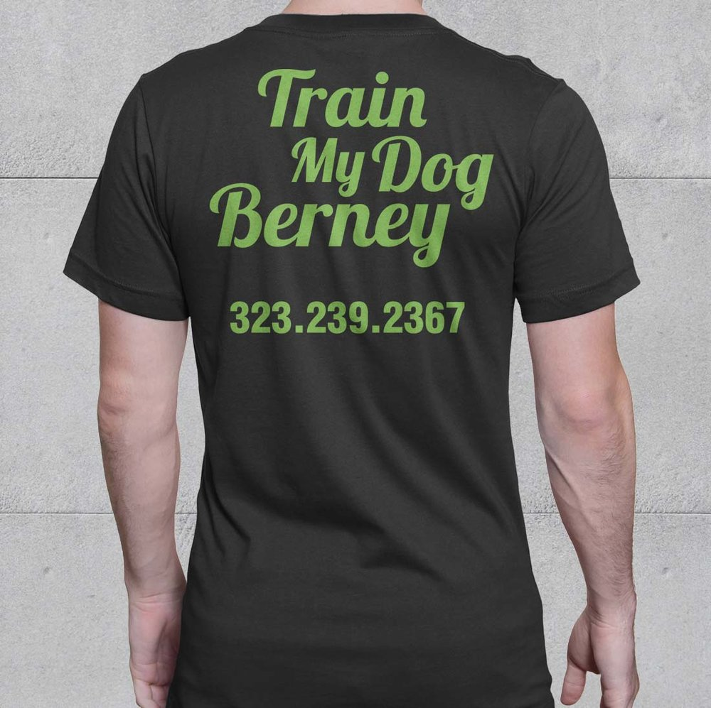 Train My Dog Berney Brand Design | EyeSavvy Design | Kiki Bakowski | Brand Design Studio #BrandDesign #BrandDesignInspiration #BrandIdentity #Logo #Marketing #Design #BrandInspiration #TshirtDesign #VisualBrand