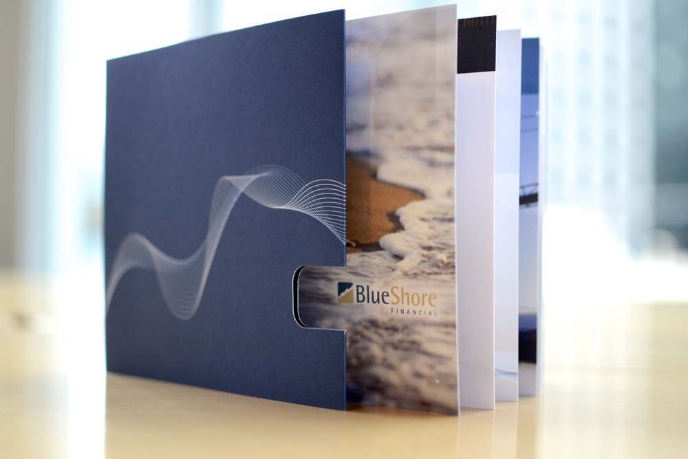 BlueShore Financial employee brand book.