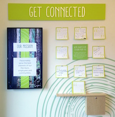 An interactive community space allows members to share stories, goals, what they love about RCU, or just say 'hi'.