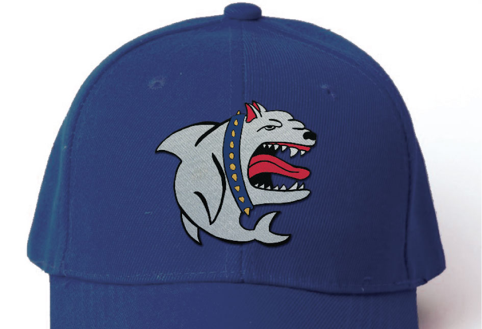Minor League Baseball's Portland SeaDogs home uniform logo.