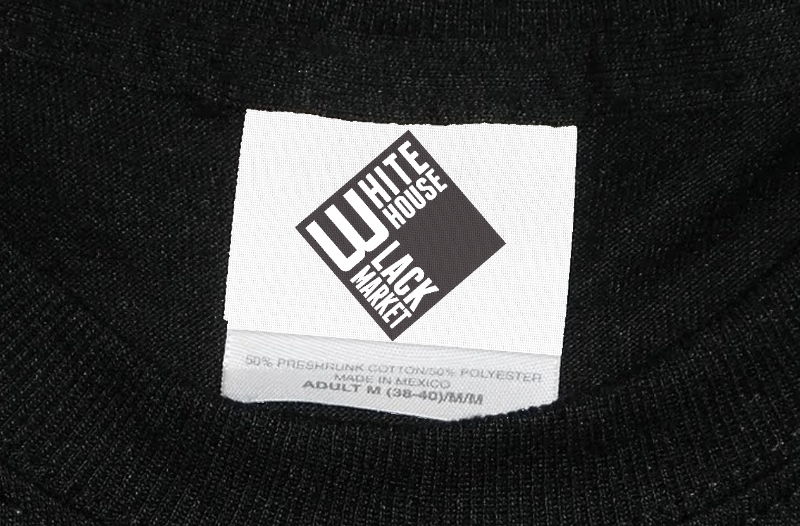 White House Black Market clothing store's logo.