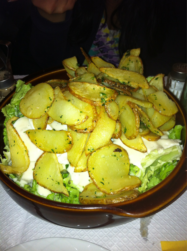 Amazing salad in Paris