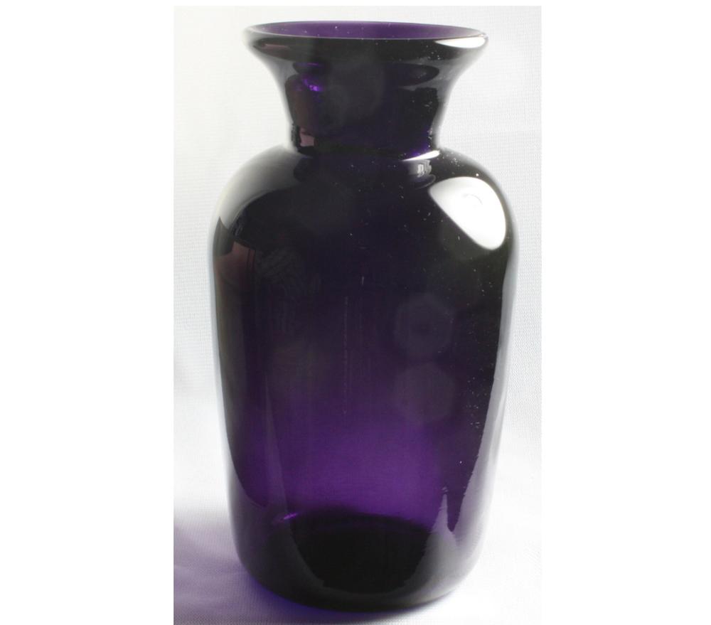 Transparent purple vase hand blown glass vase elliott glass art transparent purple vase hand blown glass vase reviewsmspy