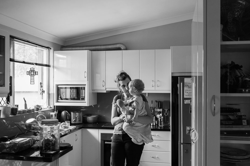Dr Louise Grey, with son Fred, works part-time in conjunction with raising a young family.  5 March, 2018.