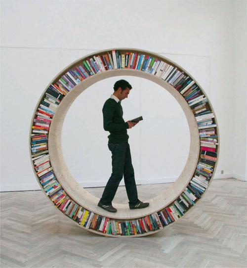 Circular Walking Bookshelf - Circular Walking Bookshelf - Gizmodo          via  gizmodo.com