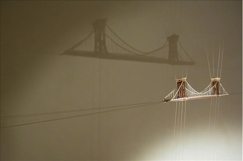 Suspended Lace Sculptures by Dorie Millerson          via  mymodernmet.com