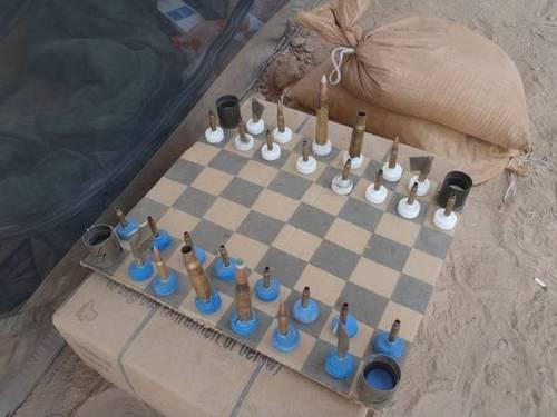 Make: Online | Marine's Field-Improvised Chess Set From Afghanistan            via  blog.makezine.com        Craft!