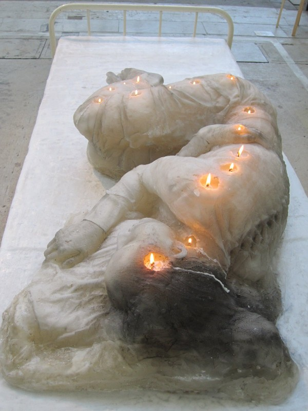 Woman made out of candles    via  thisiscolossal.com