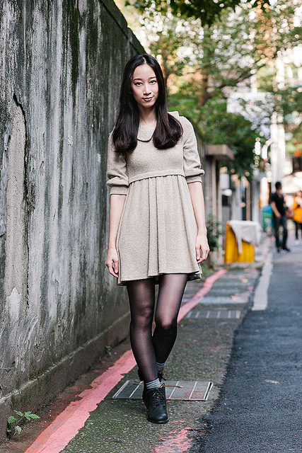HANNAH LIN  on Flickr.  Name: Hannah Lin  Location: Zhongshan District, Taipei, Taiwan  Occupation: Actress/Model  Clothes: Dress - Zara, Shoes - Pazzo (Taiwan), Socks - Muji