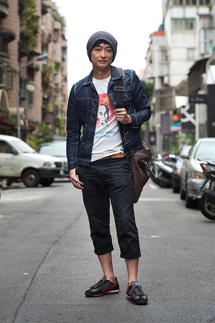 LAWRENCE KO on Flickr. Old Post Name: Lawrence Ko Occupation: Actor Neighborhood/Street: Dongqu District Clothes: Jacket - Diesel, Shirt - Vintage, Pants - SQUAD, Shoes - PUMA, Bag - Replay blogs.wsj.com/scene/2012/04/18/scenestyle-diesel-in-taipei/