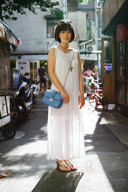 BLANCA CHU  on Flickr.  I'm back from traveling to San Francisco, Yosemite, Los Angeles, and Tokyo the last three weeks. Here are some recent posts from The Wall Street Journal's Scene Asia section.   Dongchu, TAIPEI. Blanca Chu, boutique shop owner. Chica Blanca 布蘭卡小姐 dress and bag, Atelier Mercadal shoes, Miu Miu sunglasses, Servane Gaxotte necklace   blogs.wsj.com/scene/2013/06/26/scenestyle-atelier-mercada…