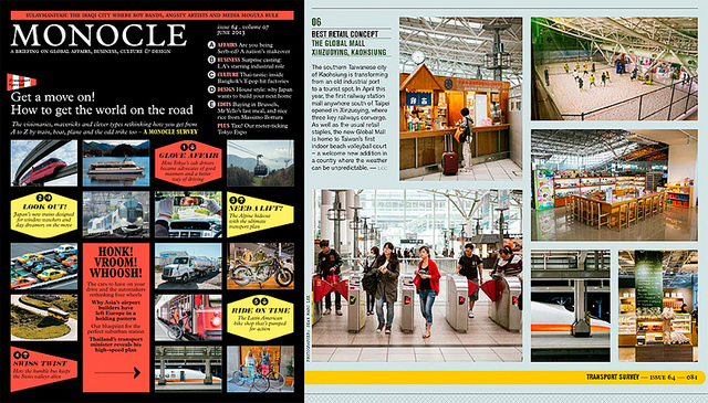 Monocle Magazine Issue #64 June 2013  on Flickr.   Some photos in Monocle Magazine's June 2013 Issue featuring Taiwan's first indoor beach volleyball court and inside a train station!   monocle.com/shop/magazine/issue-64/