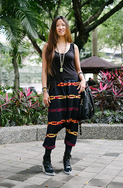 SCENEST_TW_07  on Flickr.  Da'an District, TAIPEI. Soyon An, stylist and design consultant. Alexis top, Mania pants, Alexander Wang shoes, Marc Jacobs purse, VSA ring, Vivienne Westwood bracelet, necklace from a night market.   blogs.wsj.com/scene/tag/scenestyle/