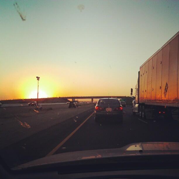 California sunset on I-5 (Taken with  Instagram )