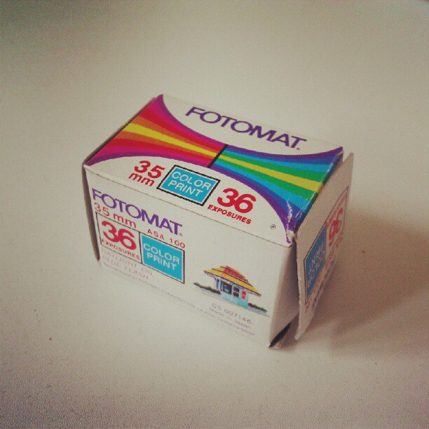 Found an old empty film box in my house. Expiration date, March 1982. Fotomat used to be a drive thru 1hr film processing lab found in many strip mall parking lots. (Taken with Instagram)