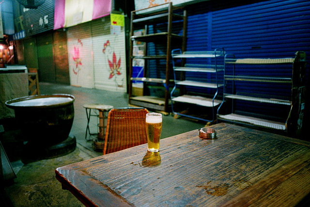 untitled on Flickr. the last time i'll ever have a beer here. RIP. 2009.