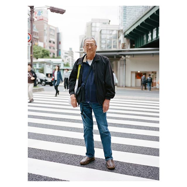 The land where the family house where my father was born in Kobe, Japan, is now a subway station. Here he is standing where it was.  #team_lee #daddy_lee #pentax645nii #portra160 #family #film #portrait