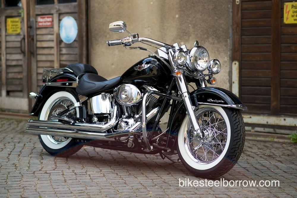 Harley Davidson 2005 Flstni Softail Deluxe Black Bike
