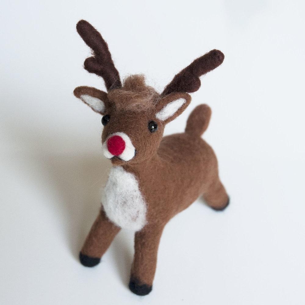 Needle Felting Reindeer Workshop