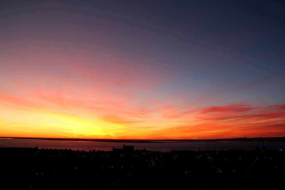 Sunrise over the Tagus River, Lisboa