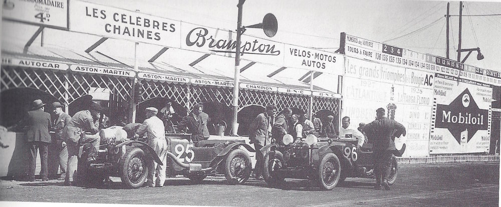 Lord Charnwood and the Works team at Le Mans in 1928.  S4's entry was scratched in the lead up to the race giving more time to prepare the remaining two cars.
