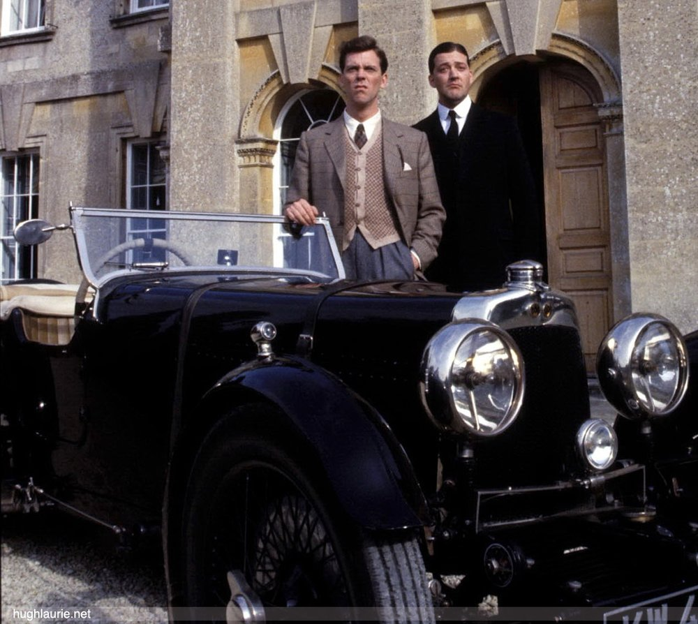 1990, Stephen Fry and Hugh Laurie with S4 as 'Jeeves and Wooster'