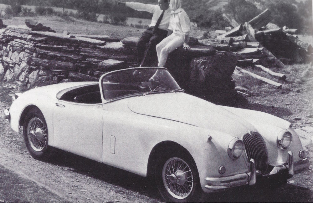 Original Jaguar Press Photo of the XK150 Roadster