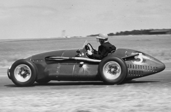 Eric Thompson Driving Connaught A6 at the Silverstone British GP, 1952