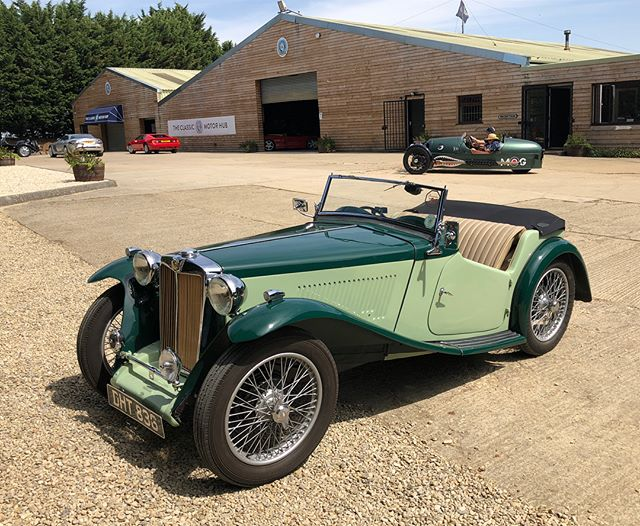 Pre-War MGs are so pretty and this lovely little TA is a stunner. Fully rebuilt, engine, body, wiring loom, interior, etc. Let me know if you are interested...... #cotswoldcollectorscars #mg #ta #prewar #perfectcolour #drivetastefully #restored #rebuilt