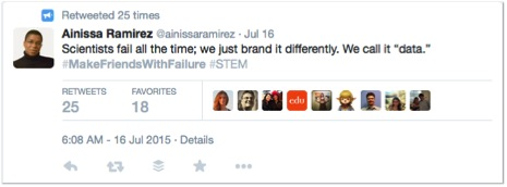 "Getting retweeted 25 times in the STEM corner of the Twitterverse is ""blowing up."""