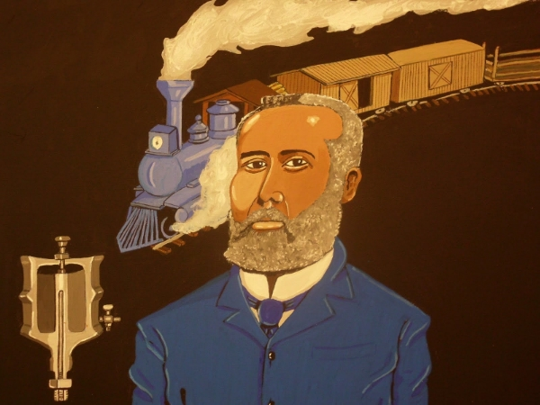 Elijah McCoy held 50 patents to do with materials and tools to keep steam locomotives properly lubricated.