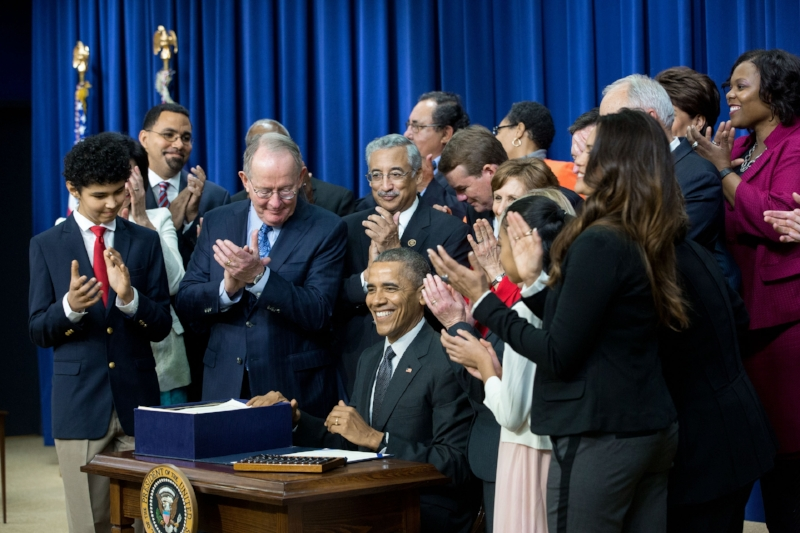 On December 10, 2015, President Obama signed into law the Every Student Succeeds Act, bringing eight years of debate over federal education policy to a resolution, at least for now.