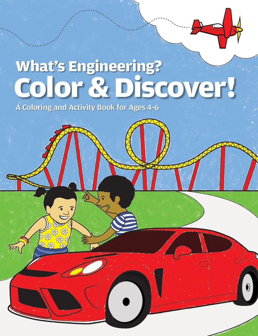 This 20-page coloring and activity book shows kids that the engineered world is all around them all the time.