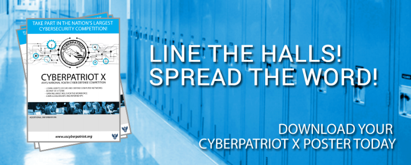 Cyberpatriot is a nationwide cybersecurity competition involving high school kids that runs from October to April every year.