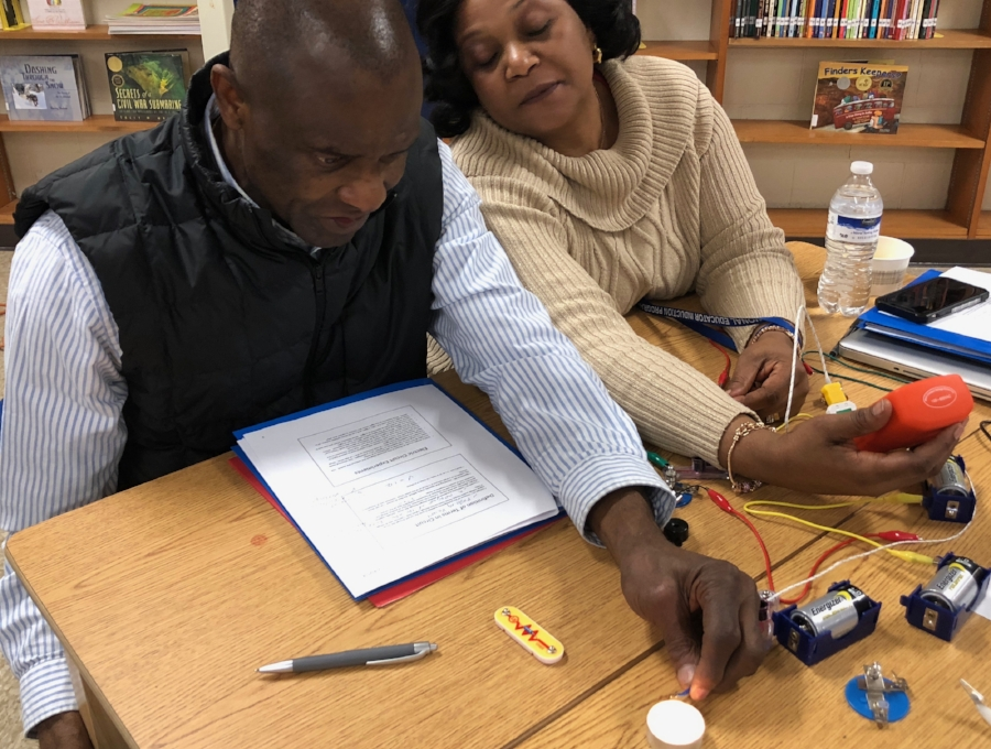 The first Engineers On Deck workshop brought engaging, hands-on learning activities to a diverse group of middle school teachers.