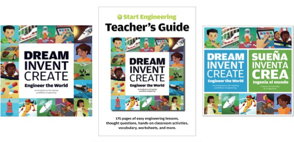Our Dream, Invent, Create elementary engineering program features inexpensive, commonly found items as learning aids as well as grounding for educators in the engineering design process.