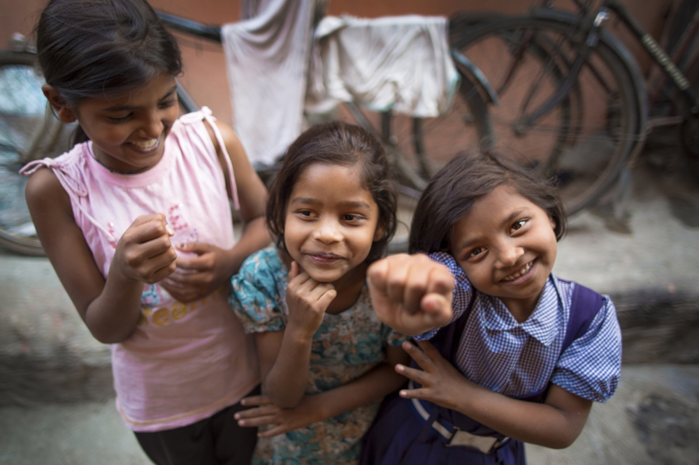 Children in a slum in Pune, India, where the Samagra sanitation initiative has installed clean toilets with running water.  Part of a photo essay for the Bill & Melinda Gates Foundation.