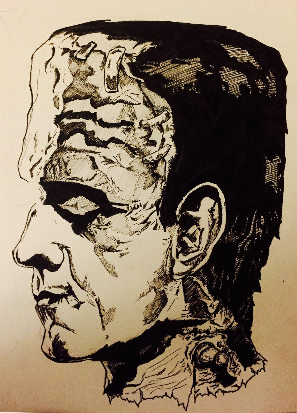 Original pen and ink illustration