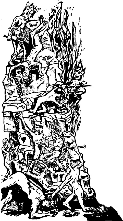 Hans Memling  inspired hell-pit.
