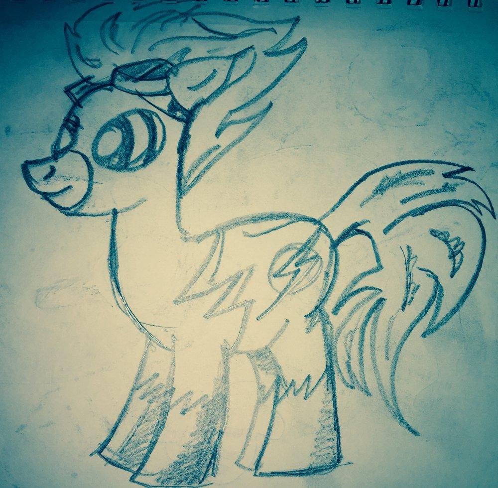 We found a My Little Pony Flash on Pinterest, because of course.