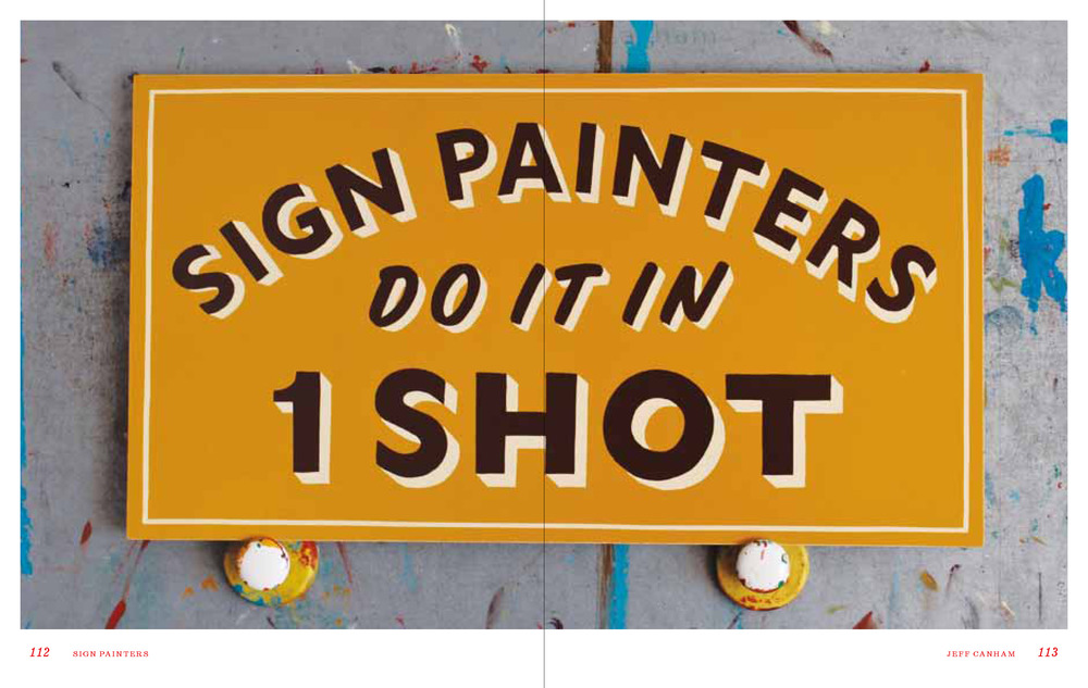 Jeff Canham artwork from the  Sign Painters  book.