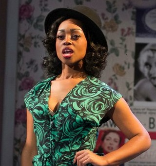 "Mambo dancing Cashae Monya in ""Crumbs from the Table of Joy"" at MOXIE Theatre.  Photo by Daren Scott."