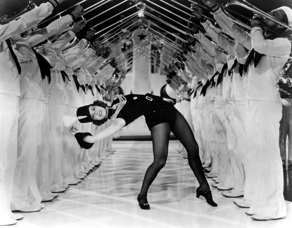 "Don't try this at home.  Eleanor Powell in ""Born to Dance"", 1936."