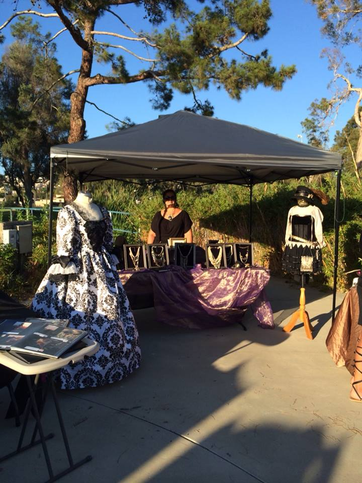 Jeannie setting up the LEO DUO booth at the beautiful Mission Bay Golf Course.