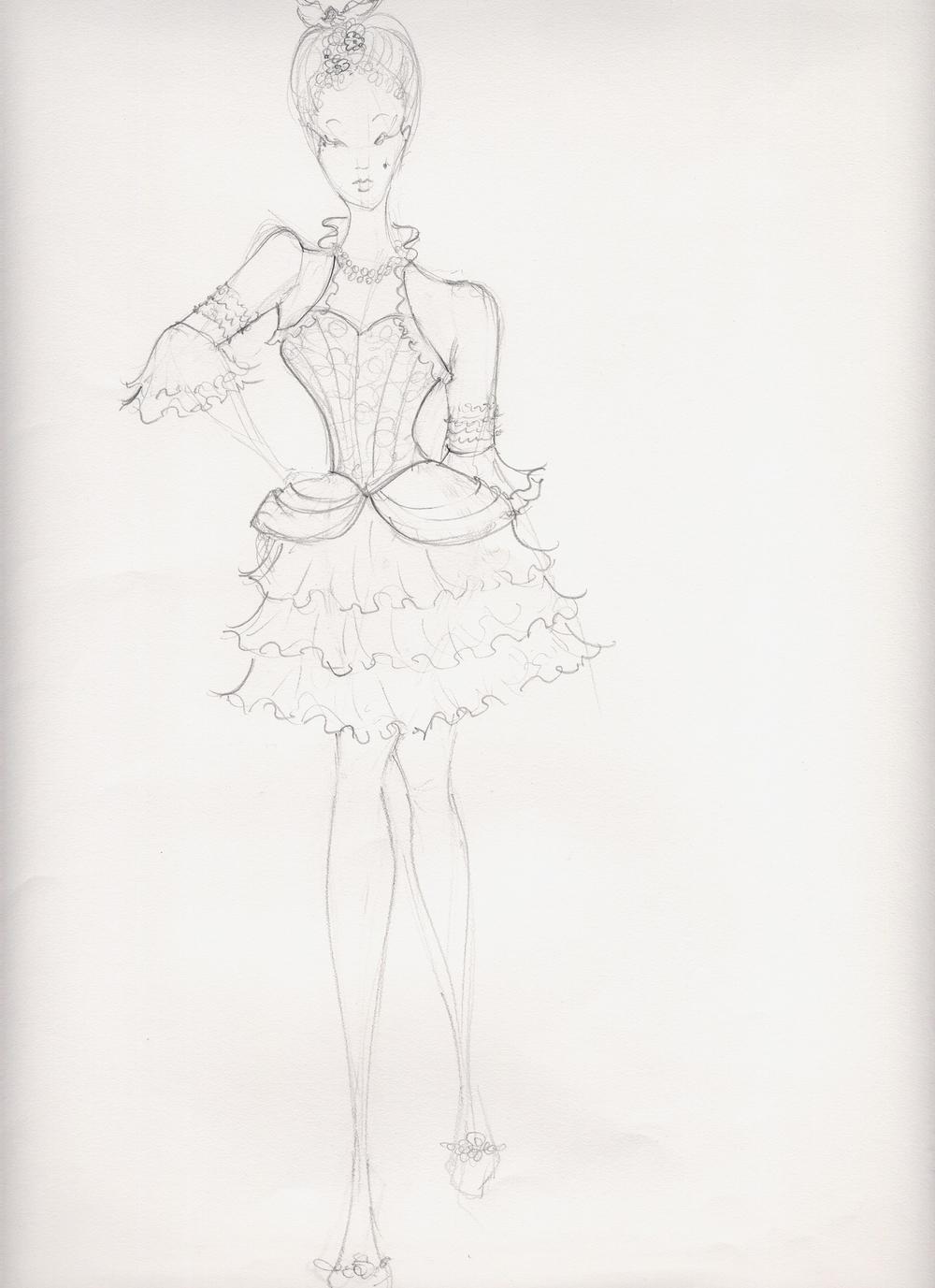 NCM Versailles corset bolero short skirt.JPG